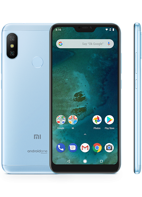TELEFONO  XIAOMI MI A2 LITE P5.84 OC 4GB 64GB 4G 12MP ANDROID ONE BLUE MZB6409EU