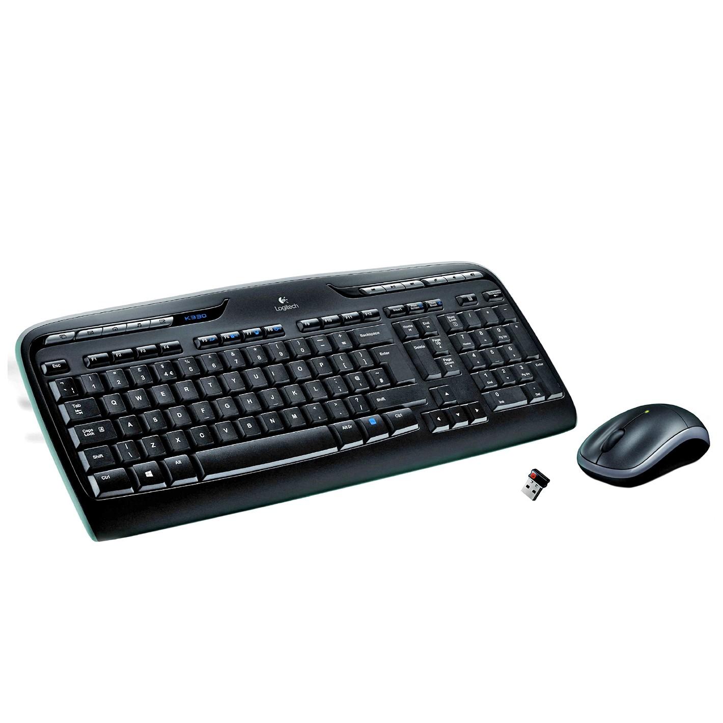 TECLADO LOGITECH INALAMBRICO KIT T+R MK330 DESKTOP USB/INAL 920-003978